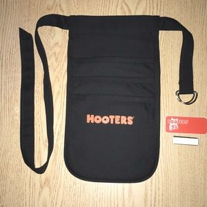 New Hooters Girl Uniform Money Pouch & Name Tag